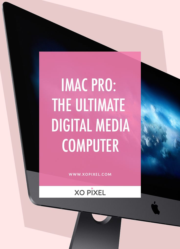 The brand new iMac Pro by Apple is a beast. It's got a hefty price tag, but it's likely one of the best computers on the market, especially for us digital media creatives.