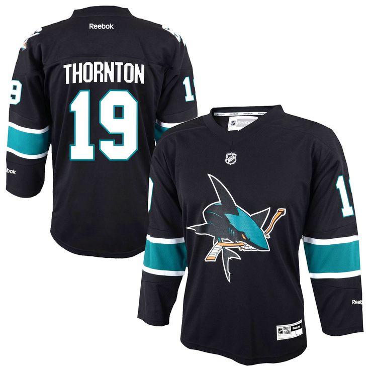 44de11db8d4 ... Joe Thornton San Jose Sharks Youth Replica Player Jersey - Black -  51.99 Reebok ...