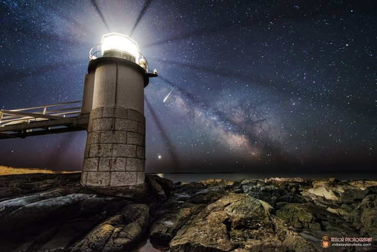 Astrophotographer Mike Taylor sent Space.com this image of the Milky Way galaxy, planet Venus and a meteor burning up in the atmosphere over the Marshall Point Lighthouse in Port Clyde, Maine on March 4, 2014. The photo is one frame taken from a 2 �-hour time lapse.