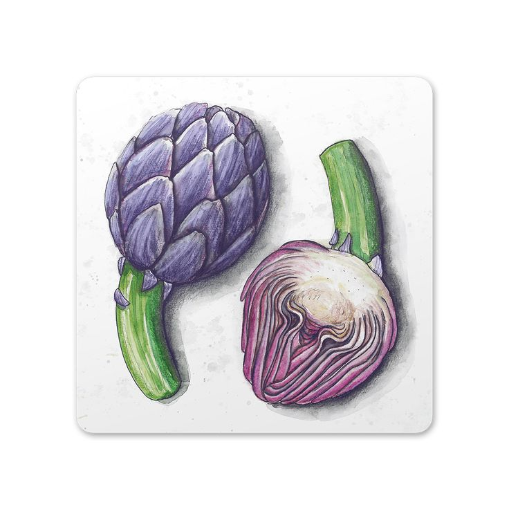 Artichoke trivet/cutting board from the Roots collection by SLOYDLAB.