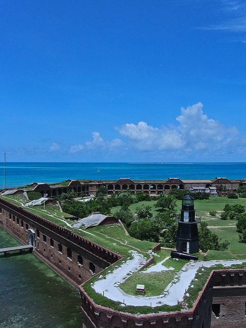 Fort Jefferson at Dry Tortugas National Park, Florida, about 70 miles west of Key West by minkstr Im there next summer!