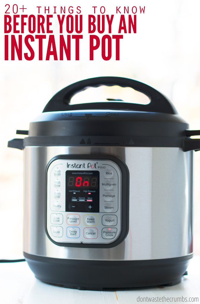 Before you buy an Instant Pot, you must read this! Helpful info on 6 quart vs 8 quart comparison, how fast it really cooks food, IP hacks and so much more! :: DontWastetheCrumbs.com