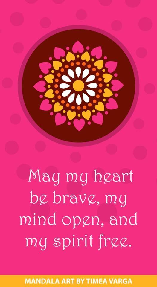 #pink #mandala #quote