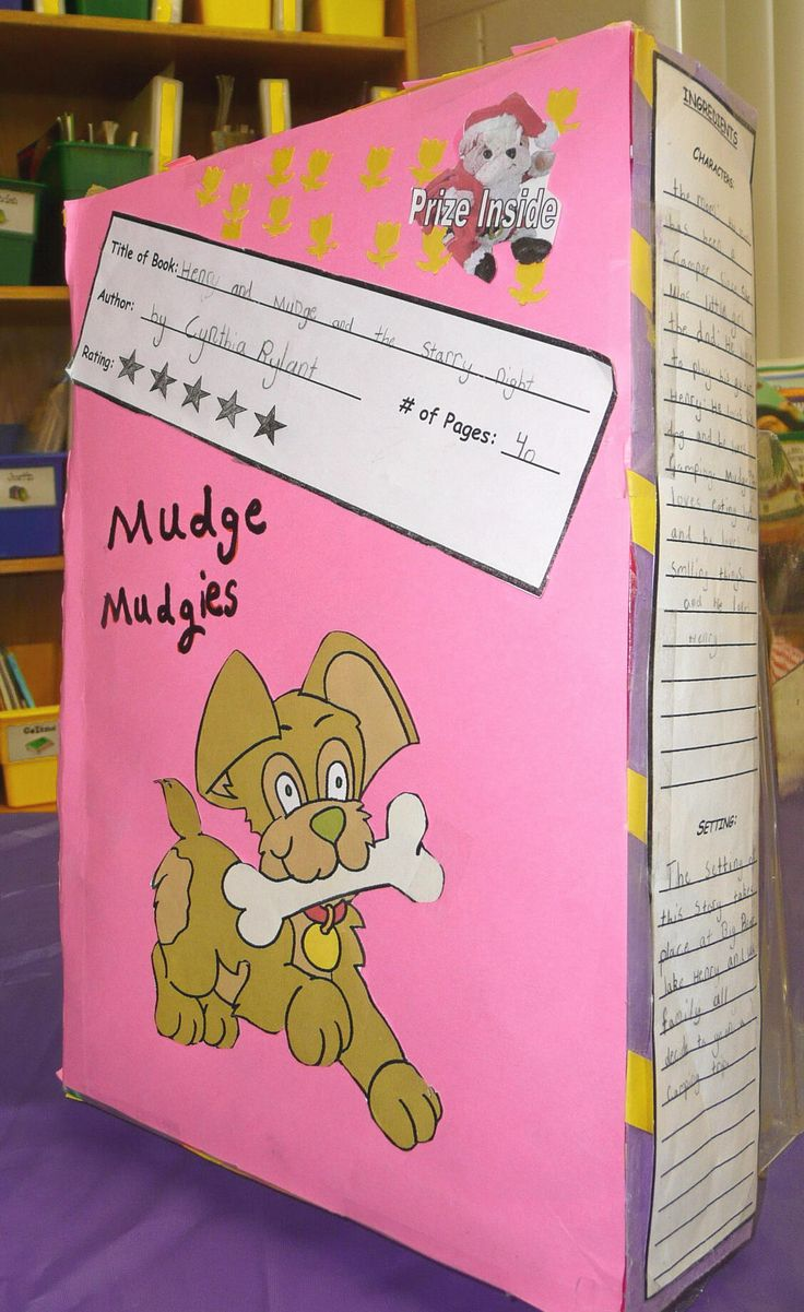 paper bag book report first grade