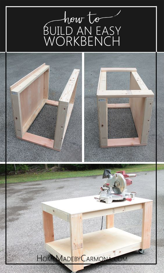 How to Build a Super Easy and Sturdy DIY Workbench | Free Project Plan via Homemade by Carmona