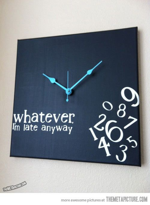 129 best let 39 s craft decor clocks images on pinterest for Whatever clock diy