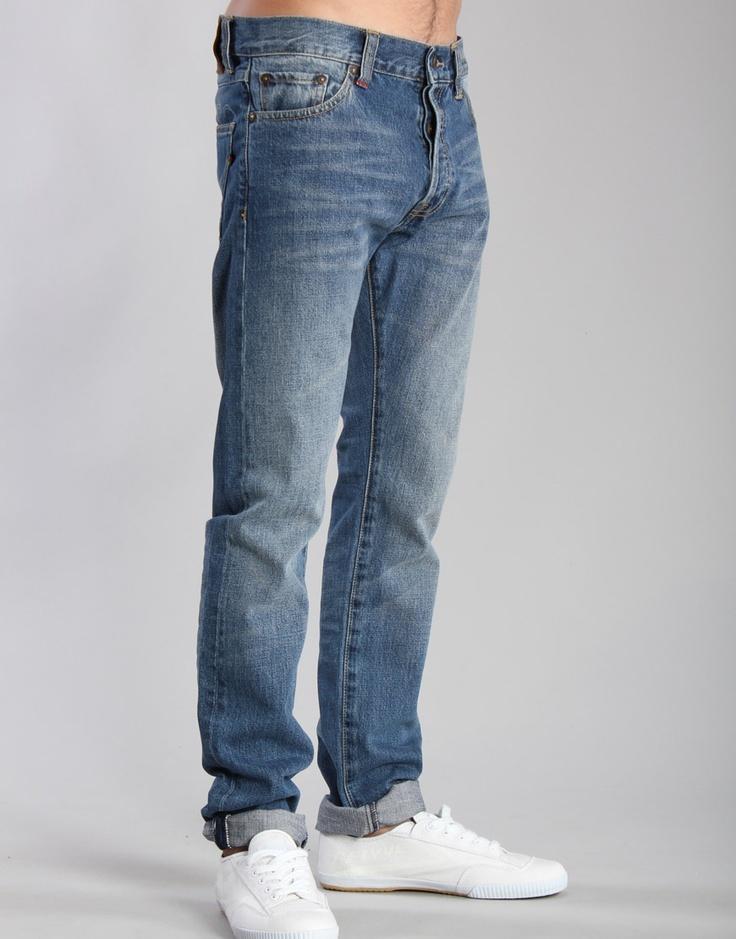 Denim Demon Aahka Banane Straight Fit Washed Blue Jeans - Kaeho Australia