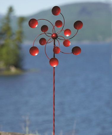 Love This Red Disc Spinner Garden Stake On #zulily! #zulilyfinds · Wind  SpinnersGarden ...