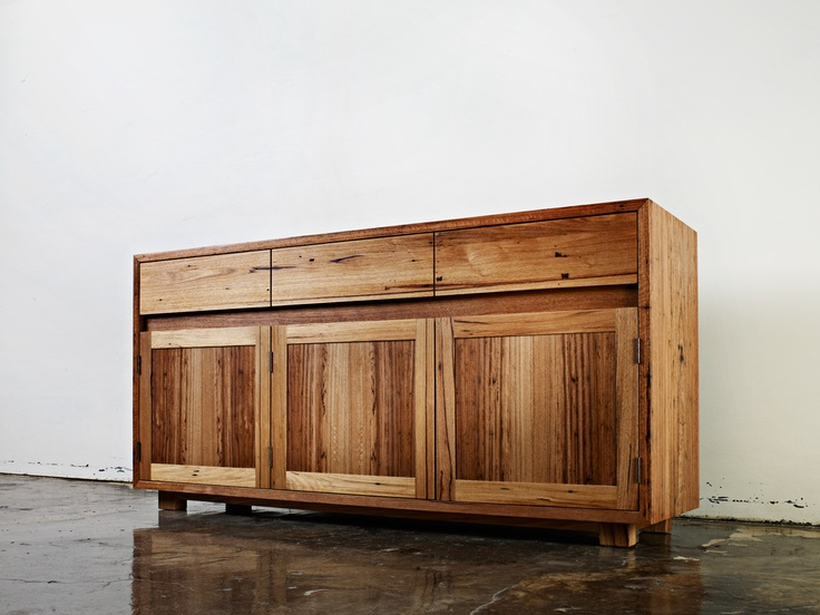 Recycled Blackbutt sideboard handmade by Auld Design - Australian furniture design and joinery.
