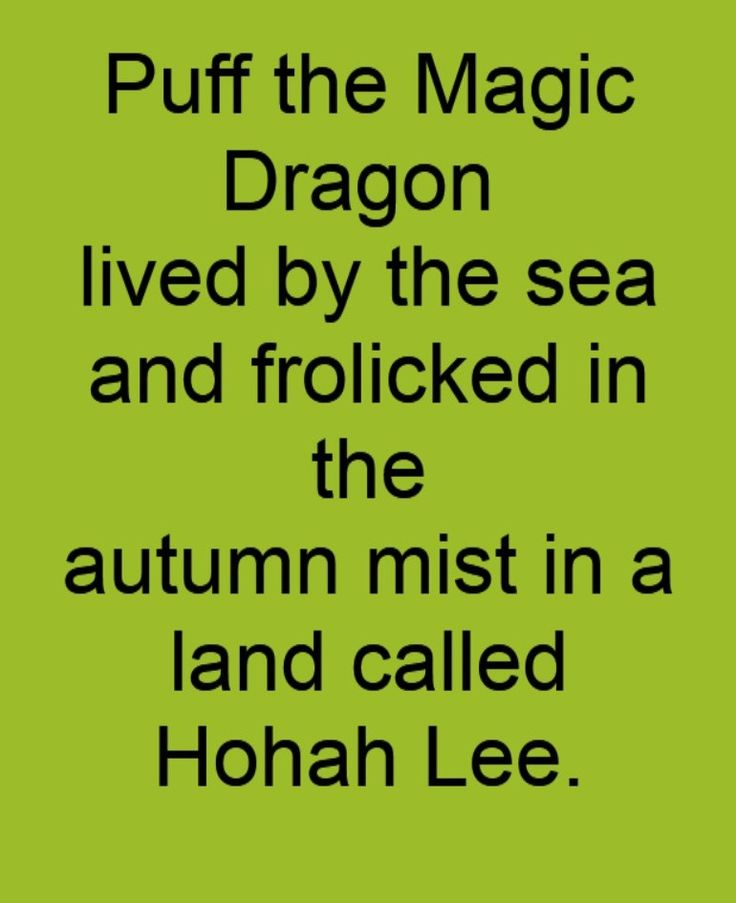 Peter Paul & Mary - Puff the Magic Dragon - song lyrics, song quotes, songs, music lyrics, music quotes,