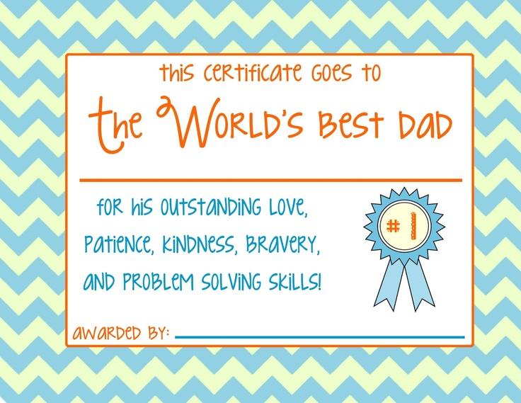 father u0026 39 s day certificate print
