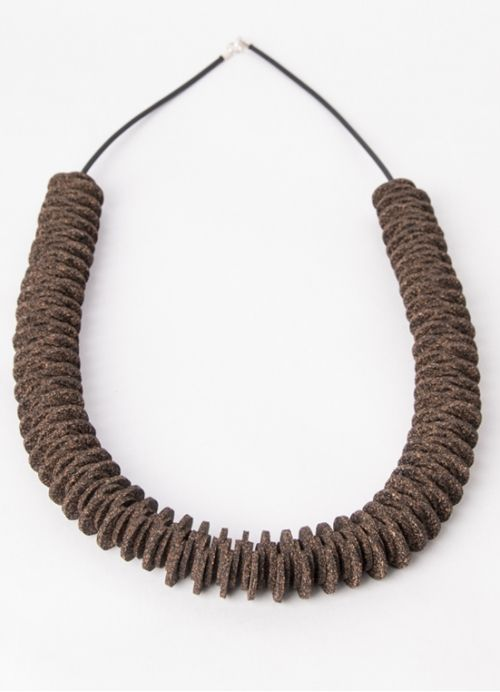 Long Triffle Cork Necklace . Portuguese Independent Brand of Contemporary Jewellery