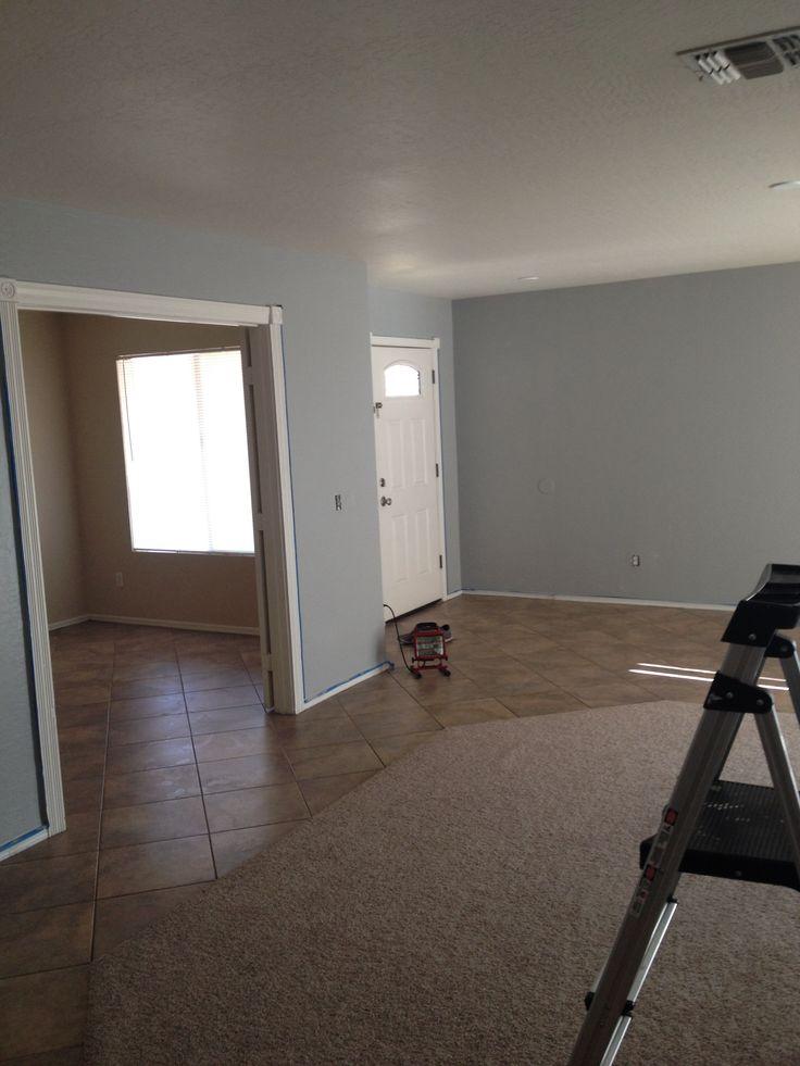 Valspar Quot Urban Sunrise Quot Blue Gray Paint Color In Living Room Paint Colors Pinterest Blue