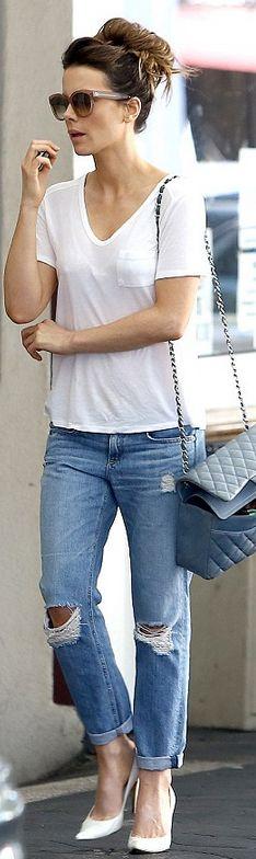 Kate Beckinsale: Sunglasses – Celine  Purse – Chanel  Shoes – Walter Steiger