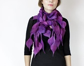 love this scarf..I want to learn how to nuno felt!
