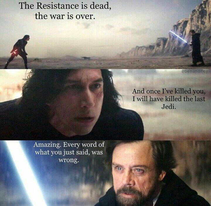 Star Wars The Last Jedi Star Wars Facts Star Wars Memes Star Wars Quotes