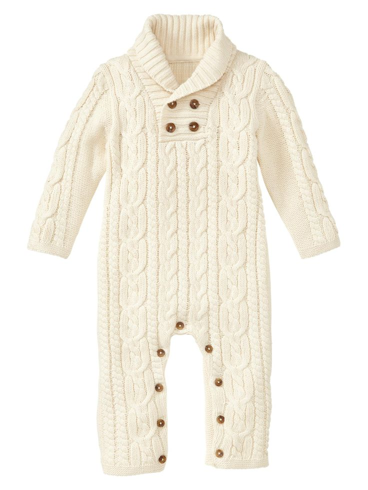 Gap | Cable one-piece 18-24mos color: French vanilla . & 0-3 mo's all the way up!