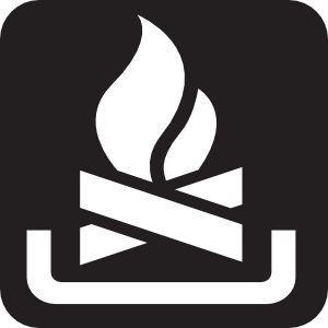 Camp Fire Black clip art - vector clip art online, royalty free & public domain