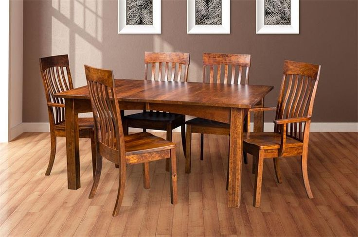 Our Amish Solid Wood Madison Dining Set is built to last a lifetime.