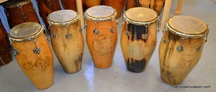 Manito Percussion Congas Custom Solid Shell Drums Tell Manito you saw them in David C. Pinterest Page http://www.manitopercussion.com/