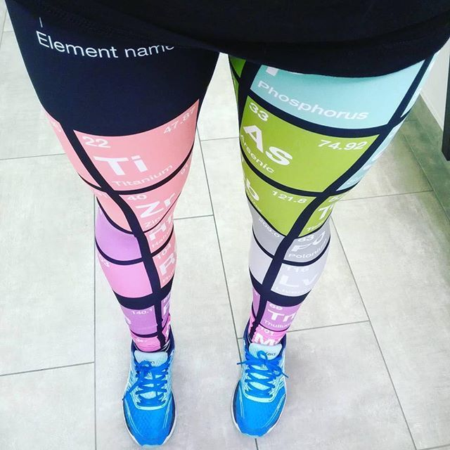 #Repost @science_exercises.eu -still rocking our #periodictable leggings! Awesome!   My weekend was spent with writing reading  and figure making . My thesis is now about 50% done I hope to send a big chunk of it to my supervisor next week  . But! Since my hand hurts from all the clicking and writing any my eyes get watery only by looking at the PC screen I awarded myself with 90 minutes in my gym.  . Plan for tonight is to drink a glass of red with my hubby  and to my nails  . I always make…