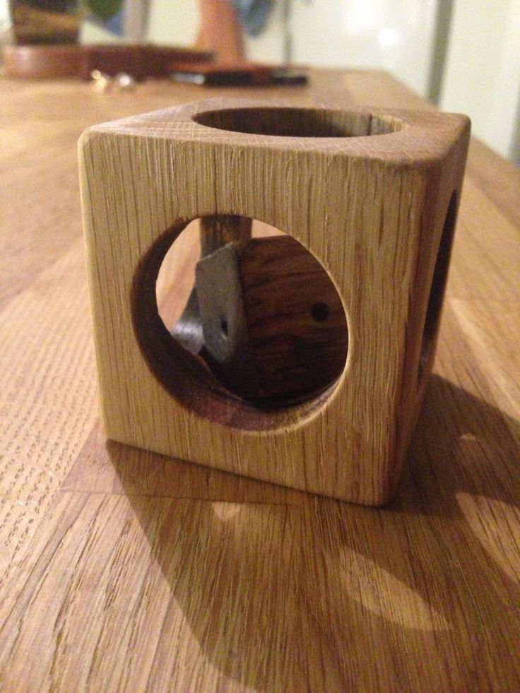 Cube in Cube, handmade, oak, wood-toys