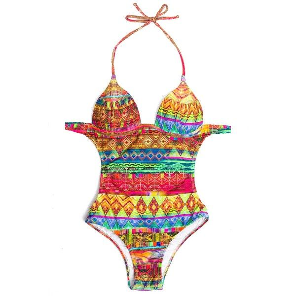 Rio De Sol Multicoloured Ethnic Trikini With Firm Cups - Lavezzi ($56) ❤ liked on Polyvore featuring swimwear, bikinis, blue, spandex swimwear, bikini two piece, triangle swim wear, triangle bikini swimwear and multicolor bikini