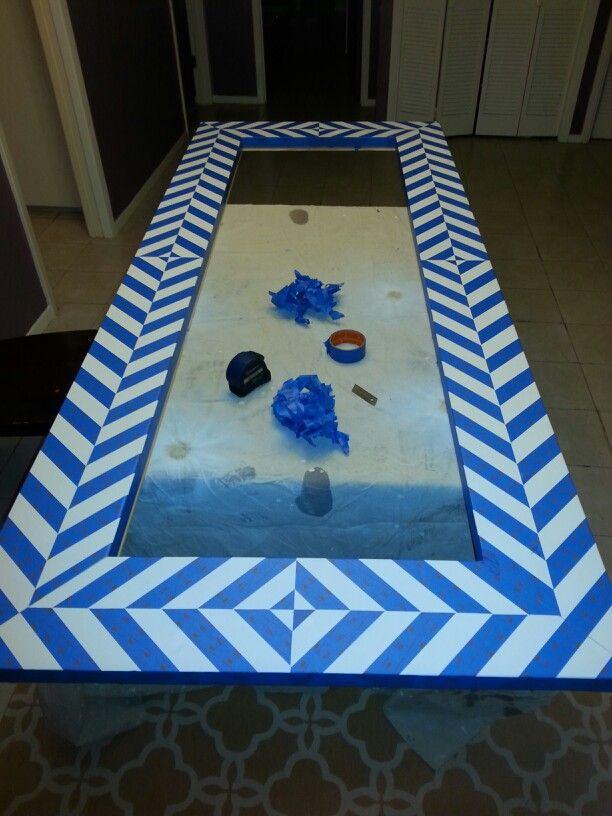 15 best diy floor mirror images on pinterest floor mirrors diy floor mirror herringbone taping 4 solutioingenieria Choice Image