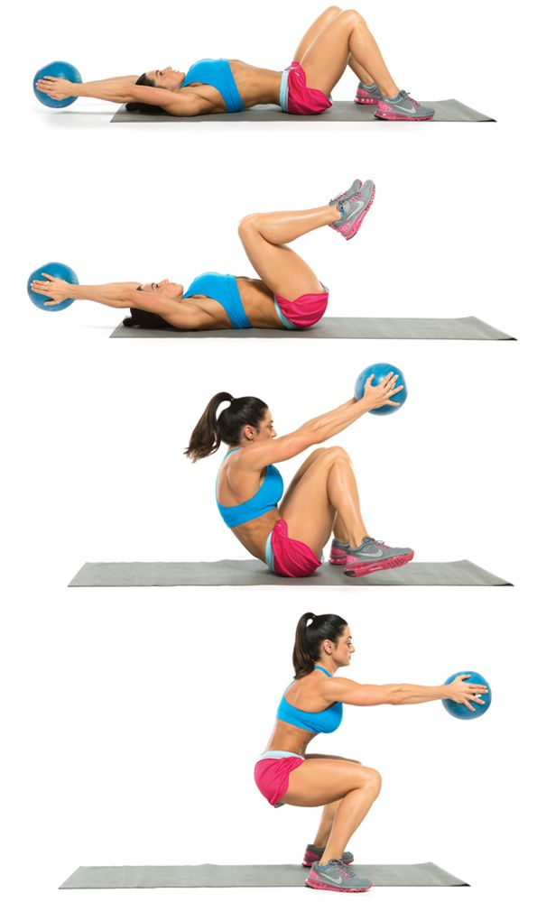 Take Your Medicine: 20 Minute Total-Body Medicine Ball Workout from Oxygen Magazine