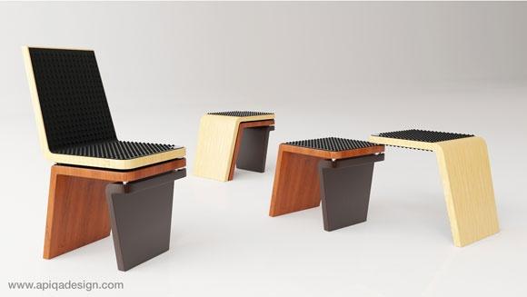 Oggi vi presentiamo una sedia dal design semplice e funzionale che può adattarsi alle varie esigenze e agli spazi a disposizione.