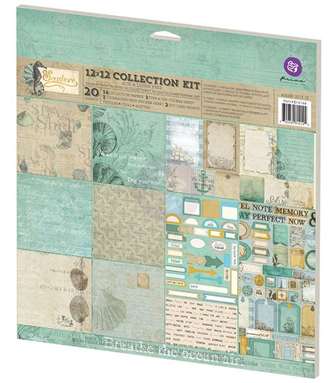 Prima - Seashore Collection - 12 x 12 Collection Kit at Scrapbook.com