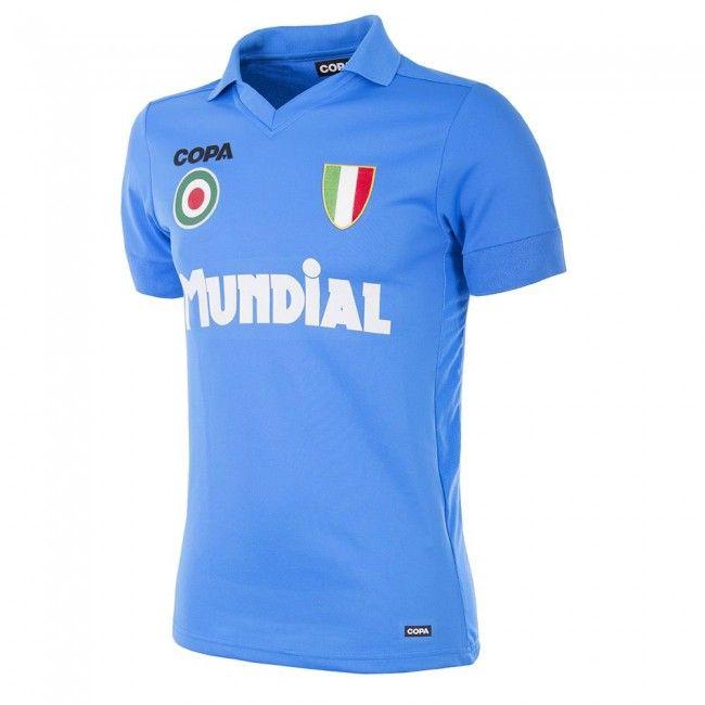 Camiseta Retro Nápoles Mundial COPA - Celeste  retroshirt  retro  shirt   jersey  camiseta  maillot  trikot  maglia  remera  playera  casaca  polera   napoli ... 6c020bc13