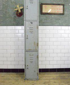 Vintage Industrial Metal Locker Cabinet | lovelitter.co.uk | Warehouse Home Design Magazine