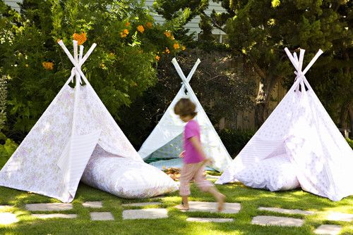 Tent eclectic landscape