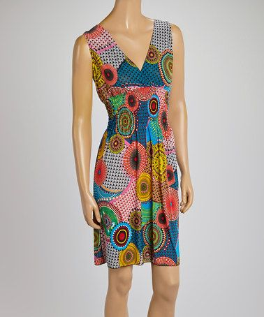 Another great find on #zulily! Red Abstract Surplice Dress - Women by Black Mountain Apparel #zulilyfinds $12.99