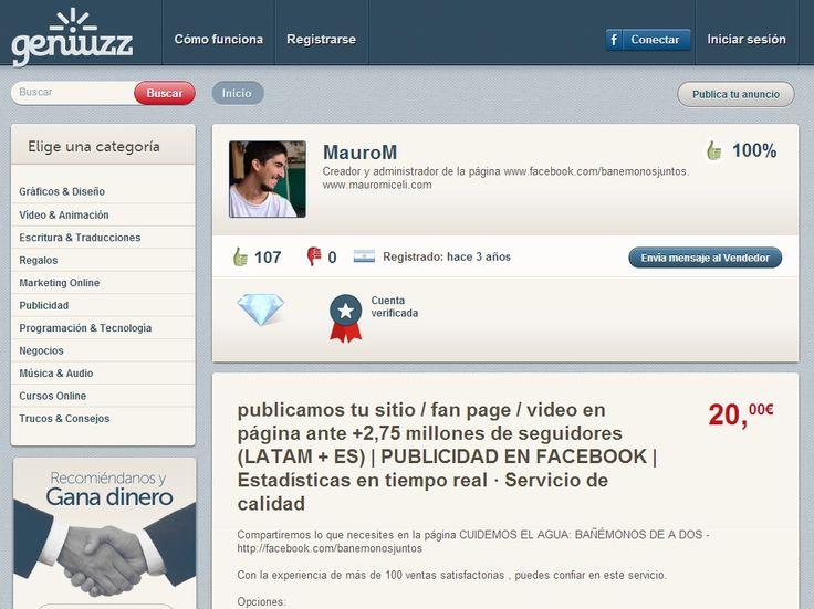 http://www.geniuzz.com/MauroM  Creador y administrador de la página www.facebook.com/banemonosjuntos. www.mauromiceli.com