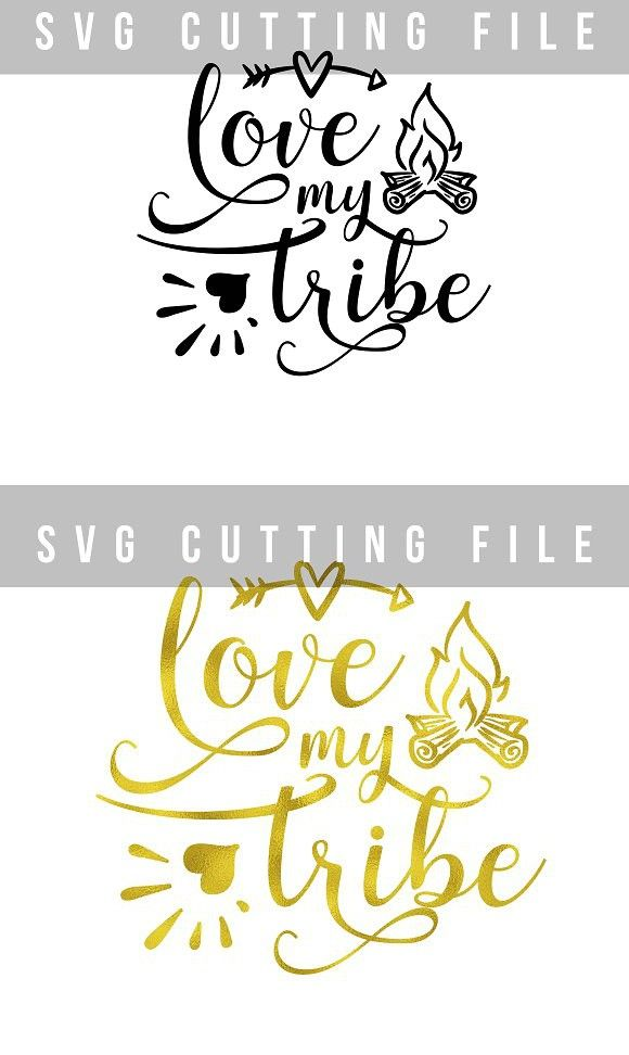 Download Love my tribe arrow & fireplace SVG. Illustrations | Tribe ...