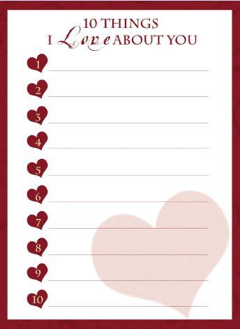 I love you card - Free printable