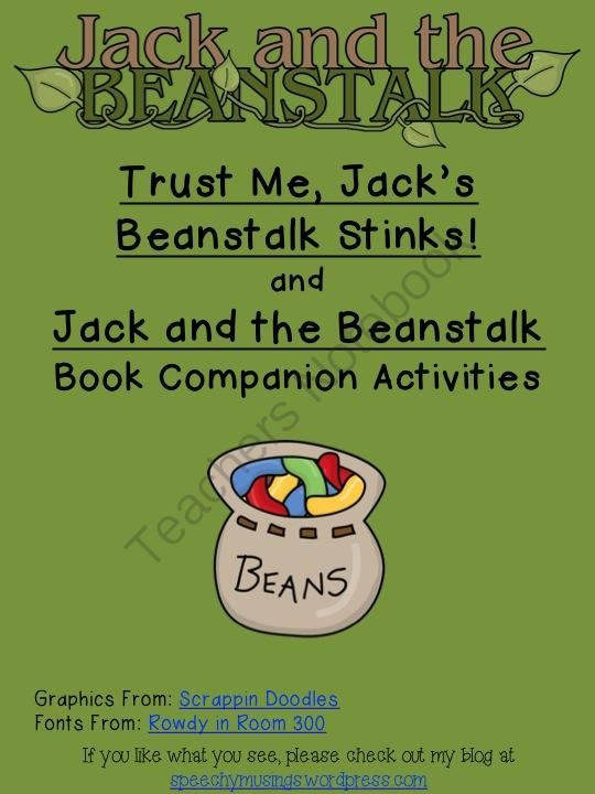 jack and the beanstalk annlysis Jack and the beanstalk teachers guide suggested schedule of activities session 1 before reading the story, tell students that it is an english fairy tale about a boy named jack who climbs to the sky on a magic beanstalk and meets an ogre.