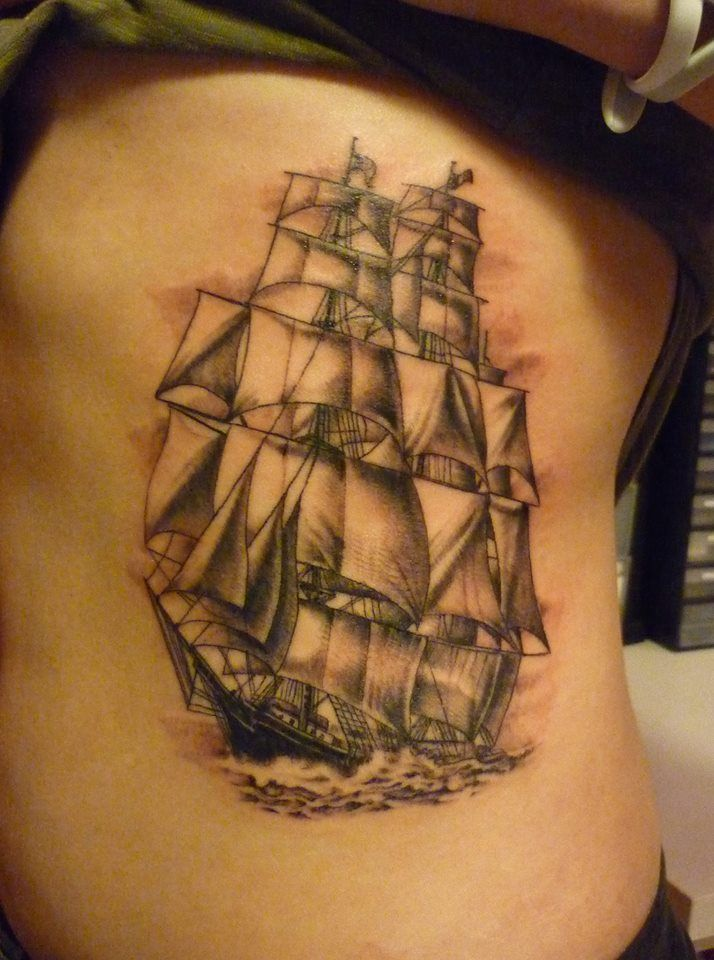 28 best nautical tattoo mural back images on pinterest for Back mural tattoo designs