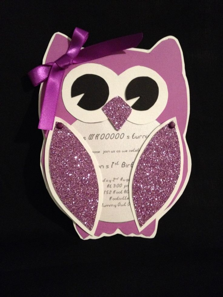 A personal favourite from my Etsy shop https://www.etsy.com/listing/221020902/adorable-owl-invitations
