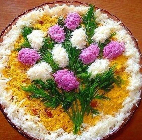 Colourful rice - flowers