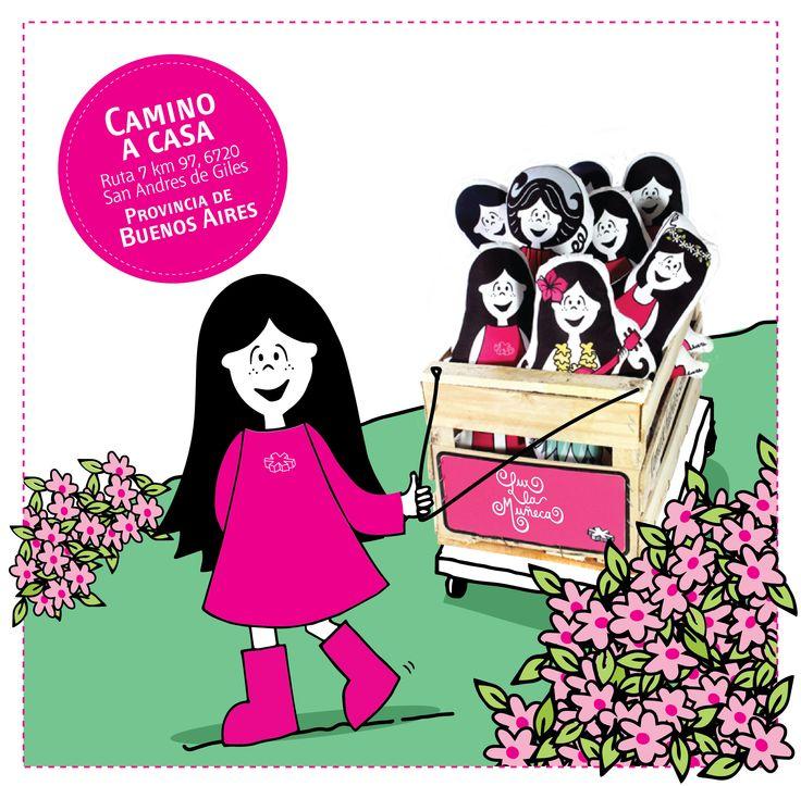 Lux en Camino a Casa, Buenos Aires.   #pink #lux #muñeca #buenoaires #argentina #kids #store #doll