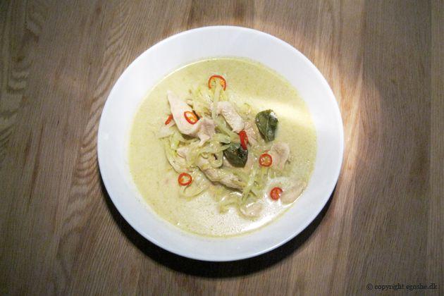 EGOSHE.dk - En madblog med South Beach opskrifter og andet godt...: Grøn karrysuppe med kylling og spidskål