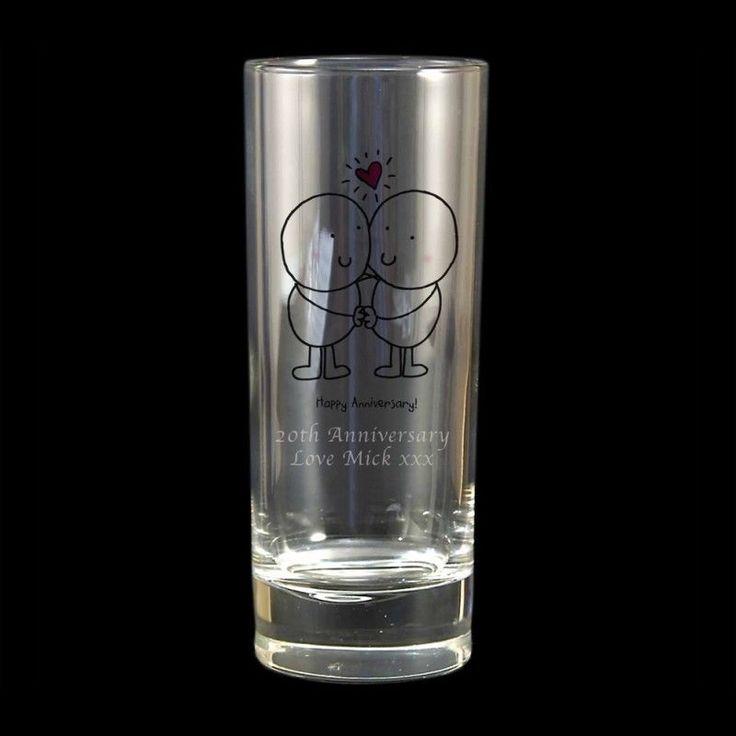 PERSONALISED ANNIVERSARY GIFT - Hi Ball GLASS - 3RD ANNIVERSARY GLASS GIFT IDEA