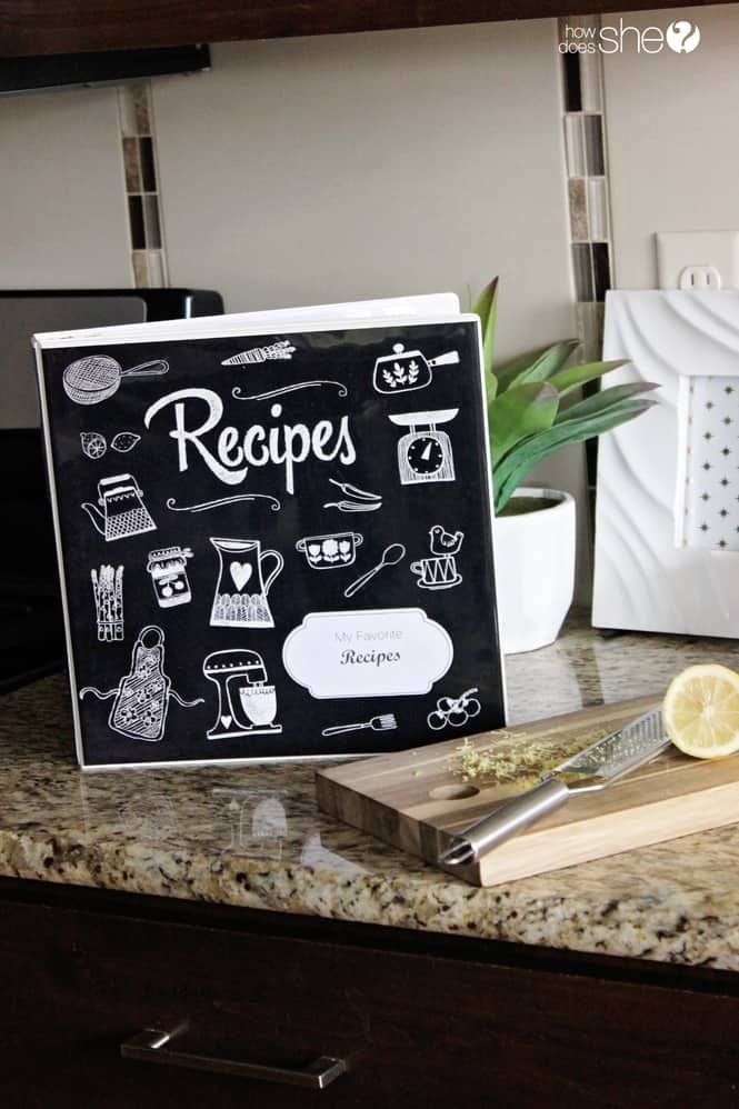 organize your recipes with this adorable diy recipe binder