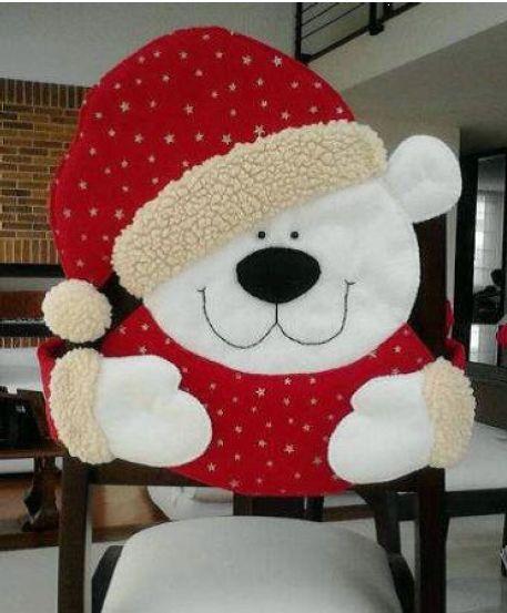 Cubresillas de oso navideño   Creatividad Pastelito