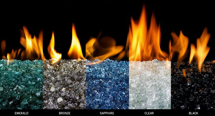 colored glass for gas fireplace
