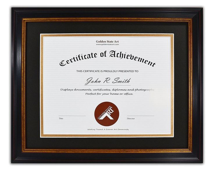 details about diploma certificate document 11x14 frame for 85x11 black gold burgundy