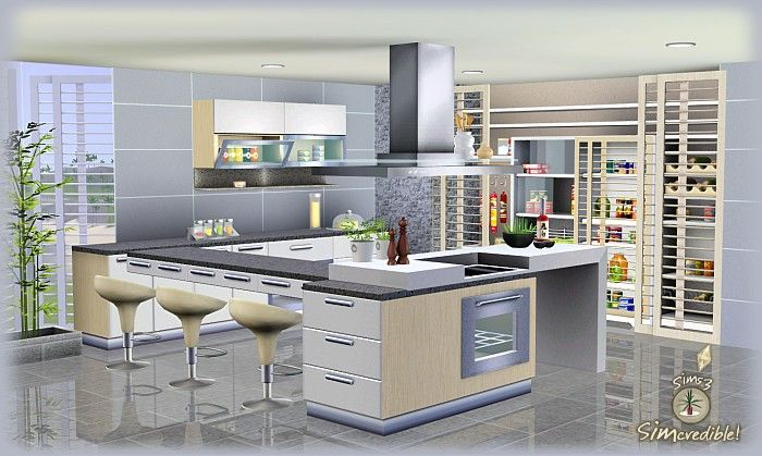 Objnoora Simc Don Formfunction Kitchen Sims 3 Downloads Furniture Pinterest Kitchen